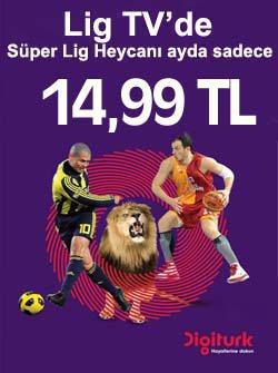 Lig TV Türksat Digitürk Kampanyası